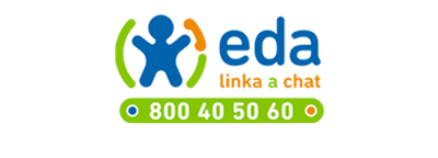 Logo Linka EDA - linka a chat, 800 40 50 60